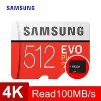 Карта памяти Samsung micro sd 64 Гб 128 ГБ 256 ГБ 512 ГБ EVO Plus класс 10 Водонепроницаемая TF Memoria sim-карта для смартфонов камера
