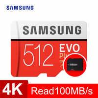 SAMSUNG tarjeta de Memoria sd micro GB 64GB 128GB 256GB 512GB EVO Plus de Class10 impermeable TF Memoria tarjeta Sim para los teléfonos inteligentes de la cámara