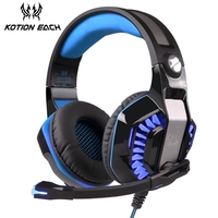 KOTION EACH G2000 II Gaming Headphones Noise Cancelling Headsets With Microphone Stereo Mic Headband Headphone For