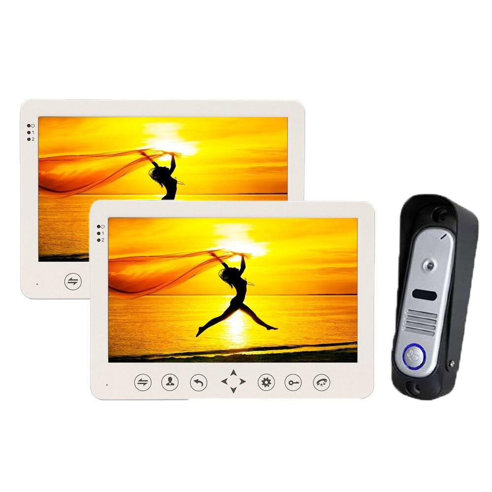 Homefong 10 inch Video Doorbell Monitor Intercom Outdoor Camera 1200TVL IP65 Door Phone Intercom System
