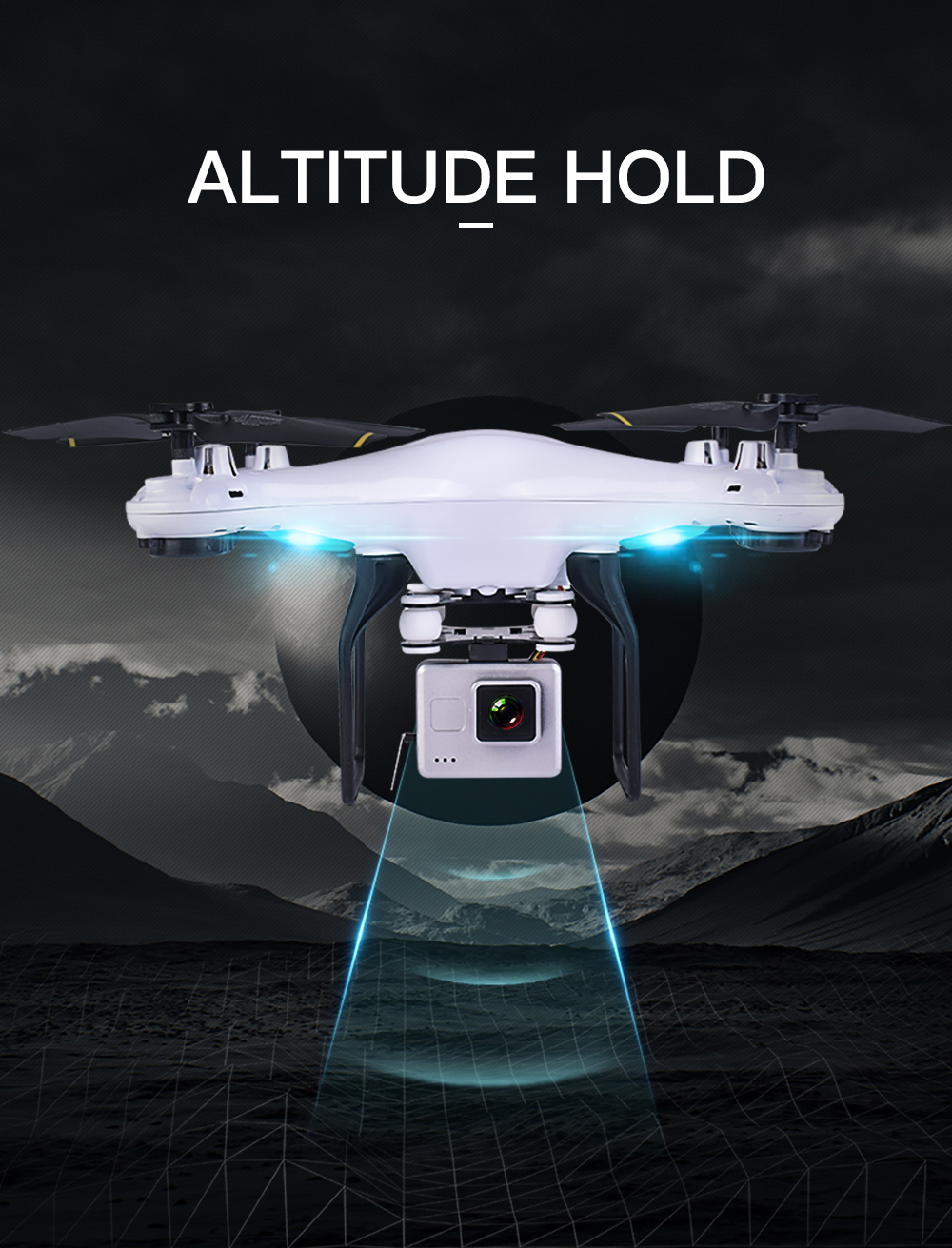Teeggi SG600 FPV RC Drone With 2MP 7P WiFi HD Camera Quadcopter Altitude Hold A Key Return Helicopter VS X5SW X5HW Dron 4