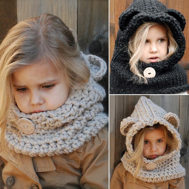 5ba1d360076 Aliexpress.com   Buy Winter Autumn Girls Hat 2017 Warm Bear Hats ...