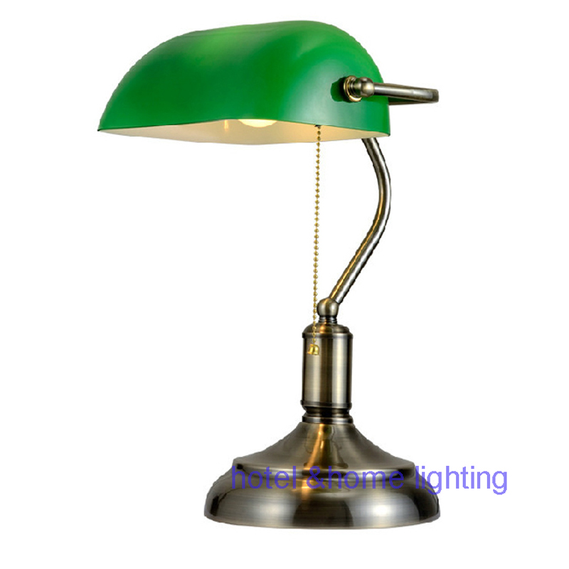 Fashion table lamp antique bronze bedside table antique table study lamp office desk lighting home decor lights led desk lamps