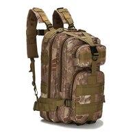 Bolsa de acampada para senderismo al aire libre, mochila militar de almacenamiento para Trekking, escalada táctica, camuflaje, Molle, 30L