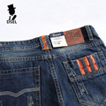 Slim Fit Denim Blue Jeans Men High Quality Dsel Brand Jeans With Logo Mens Orange Button Jeans Ripped Trousers J777