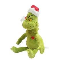 лучшая цена Movie How the Grinch Stole Christmas Grinch Doctor 39CM Seuss Cartoon Cute Stuff Plush Toy Doll Children Birthday Gift