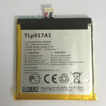 1 sztuk 100% wysokiej jakości 1700 mAh TLp017A1 TLp017A2 bateria do ALCATEL one touch idol mini OT6012 6012A 6012 W 6012E 6012D S530T
