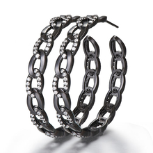 SisCathy Brand Cubic Zircon Statement Big Hoop Earrings For Women Luxury DUBAI Wedding Bridal Round CZ Circle 2019