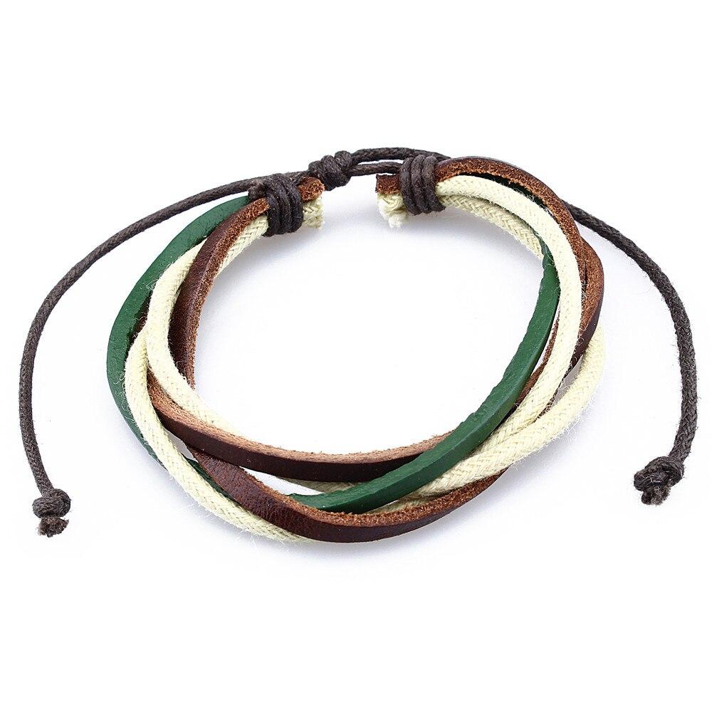 Colorful Fabric Bracelet Braided Minimalist Style Fastener Bracelets Multi Layers Bangle&Bracelet