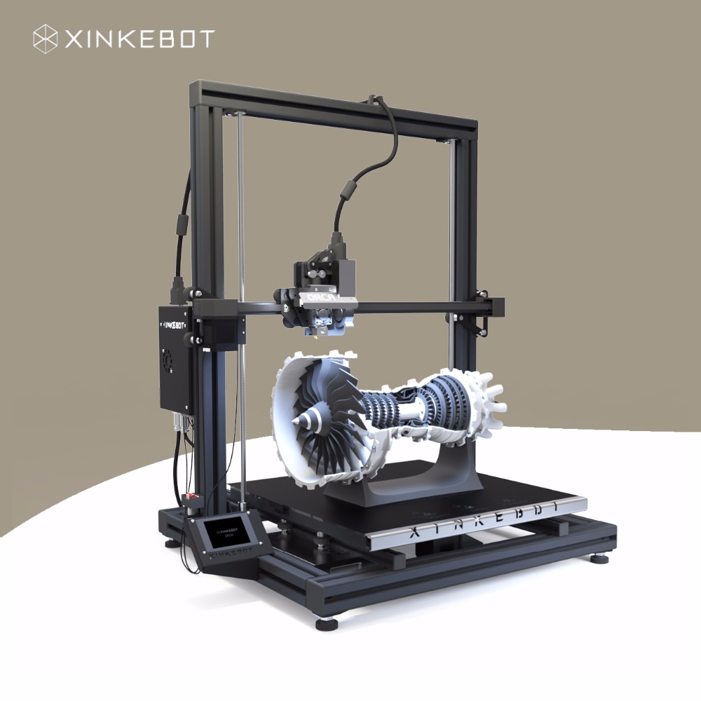 Large 3D Printer Xinkebot Orca2 Cygnus Dual Extruder 3D Printer Large Printing Area 400x400x500mm Auto Leveling