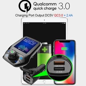 CDEN Автомобильный mp3 цветной большой экран 1,8 дюймов u-диск музыкальный плеер Bluetooth приемник fm-передатчик QC3.0 быстрая зарядка автомобильное за...