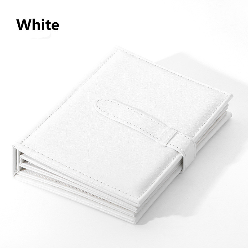 Pu Leather Stud Earrings Collection Jewelry Book Pattern Portable Jewelry Page Jewel Display Creative Jewelry Storage Box White