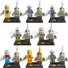 DLP9006 Building Blocks Super Heroes Avengers Cartoon Movie Robot Minifigures Robot Bricks Action Mini figures Children Toys