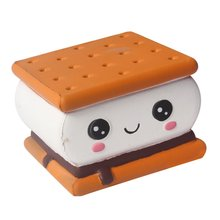 Kawaii New Squishy Expression Chocolate Sandwich Biscuits Slow Rebound Toy Cute Simulation Soft Food Childrens Toys Antistress