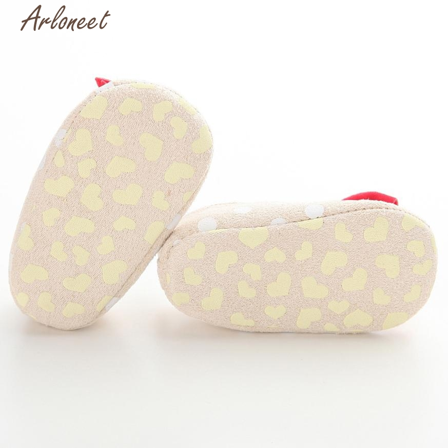 2017 FASHIONBaby Shoes Dot Butterfly Anti-Slip Soft Toddler Shoes Princess Shoes