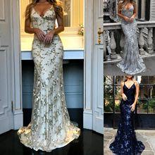 AVODOVAMA M Fashion Women Sexy V-neck Backless Dress Lady Sequins Party  Maxi Dresses Wedding 8f5f4477cfe6