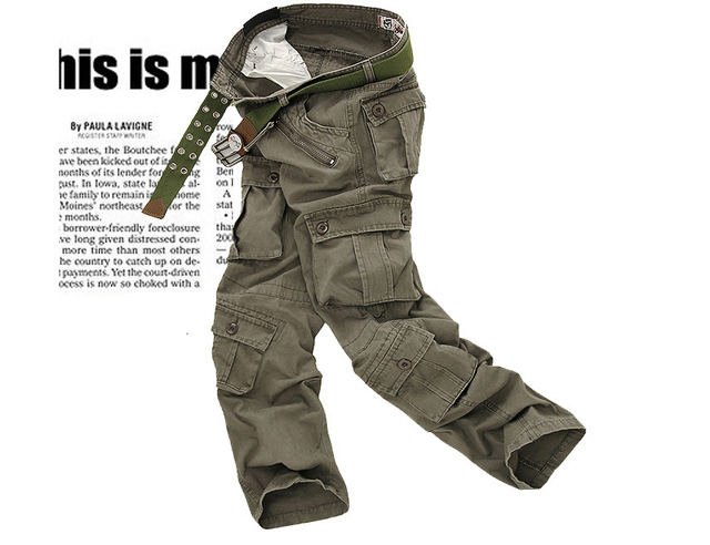 men's pants camping hiking Camouflage Cargo Pants Plus Size Multi-pocket Overalls Trousers 1
