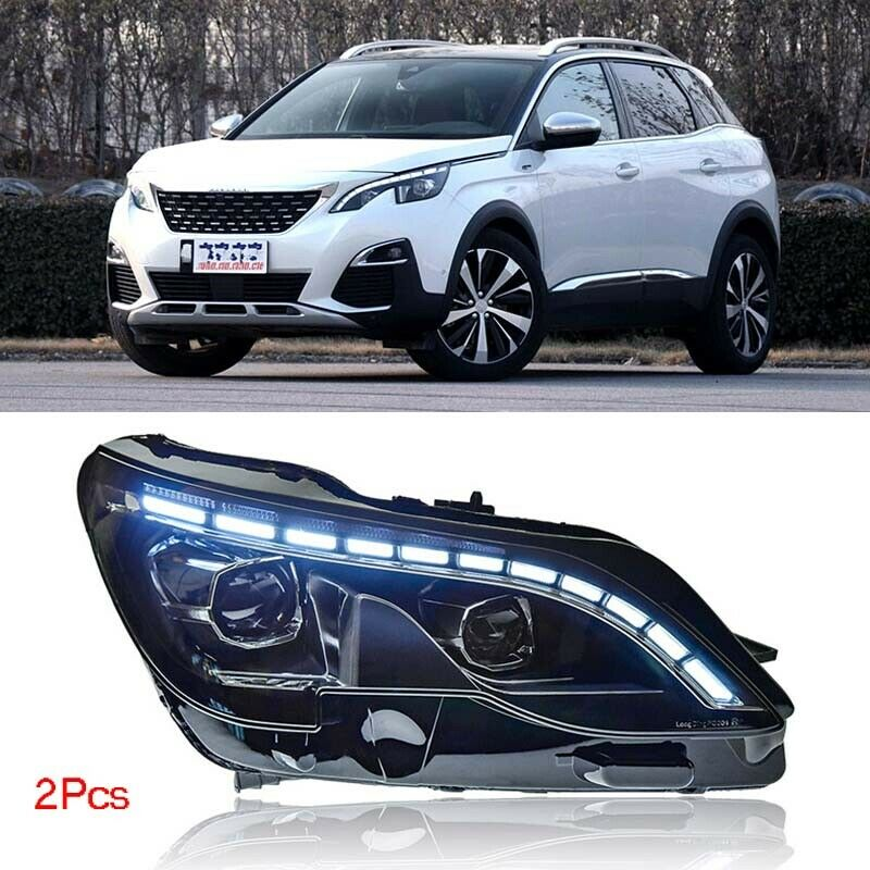 Dynamic Turn Signal LED Headlight DRLs Bi Xenon Projector Lens Fit For <font><b>Peugeot</b></font> <font><b>4008</b></font> <font><b>2016</b></font> image
