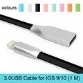 Освещение Кабель Зарядное Устройство Адаптер Лапша Плоским Плетеный USB Кабель для iPhone 7 Plus кабель usb Для iPhone 6 6 s Plus 5