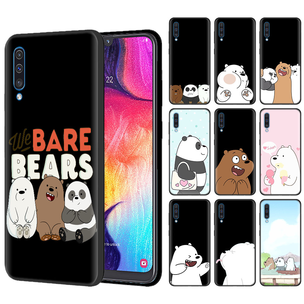 We Bare Bears Black Silicone Cases for Samsung Galaxy A10