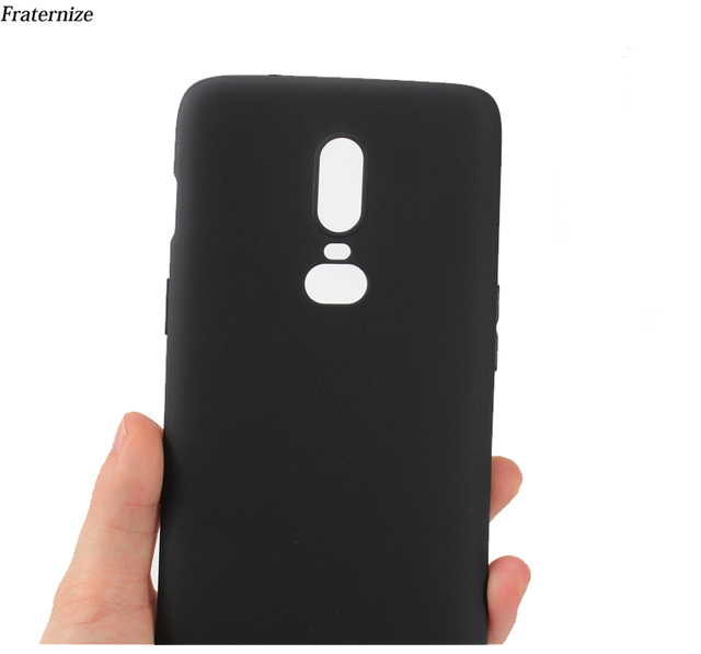 low priced 5f44f 6fab0 US $1.59 20% OFF|Oneplus 6 cover Luxury Black Soft Silicone case For  Oneplus 6 case Full Protective Back cover For One plus 6 six Phone Bag  Cases-in ...