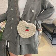 NOENNAME_NULL Women Straw Bag Summer Beach Rattan Shoulder Wicker Weave Crossbody Handbag UK