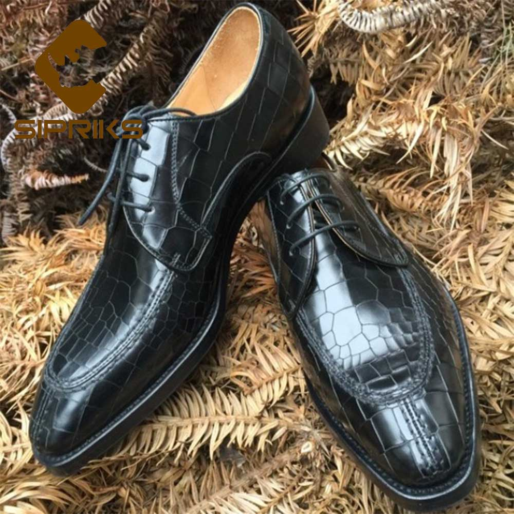 Sincere Sipriks Luxury Brand Italian Custom Goodyear Welt Shoes Boss Mens Split Toe Dress Shoes Black Full Leather Shoes Classic Gents Rich In Poetic And Pictorial Splendor Formal Shoes