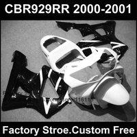 Custom motorfiets fabriek kuip kits voor HONDA CBR 929RR 2000 2001 CBR929RR 00 01 CBR 900RR wit zwart body fairings onderdelen