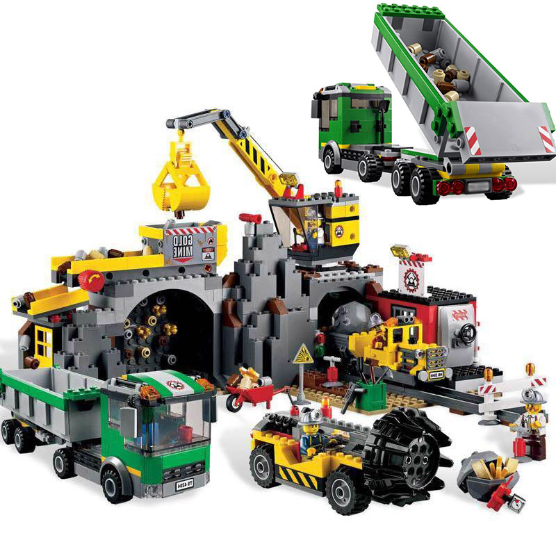 LEPIN 02071 City Series The Mine 4204 Grube Gold Mining Building Blocks 838pcs Bricks Toys Gift For Children 1712 city swat series military fighter policeman building bricks compatible lepin city toys for children
