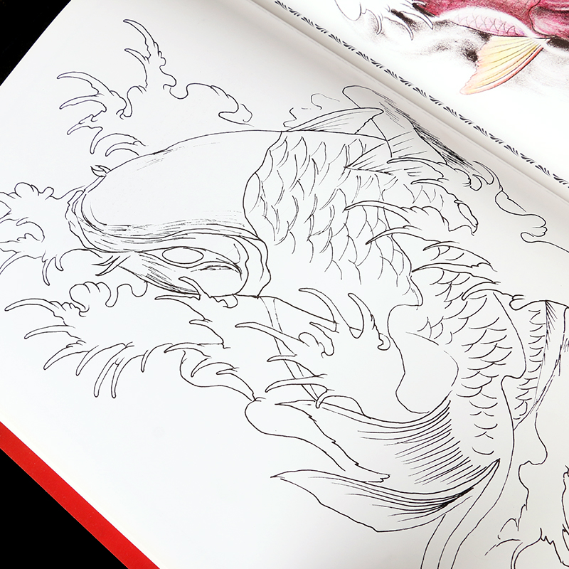 A3 Ukuran Raja Desain Tato Sketsa Mode Pola Buku Tato Warna Warni