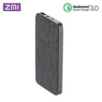 Xiaomi ZMI 10000mAh Power Bank QC3.0 PD Type C PD Two Way Quick Charge 18W External Battery For Xiaomi Mi 9 iPhone Mobile Phones