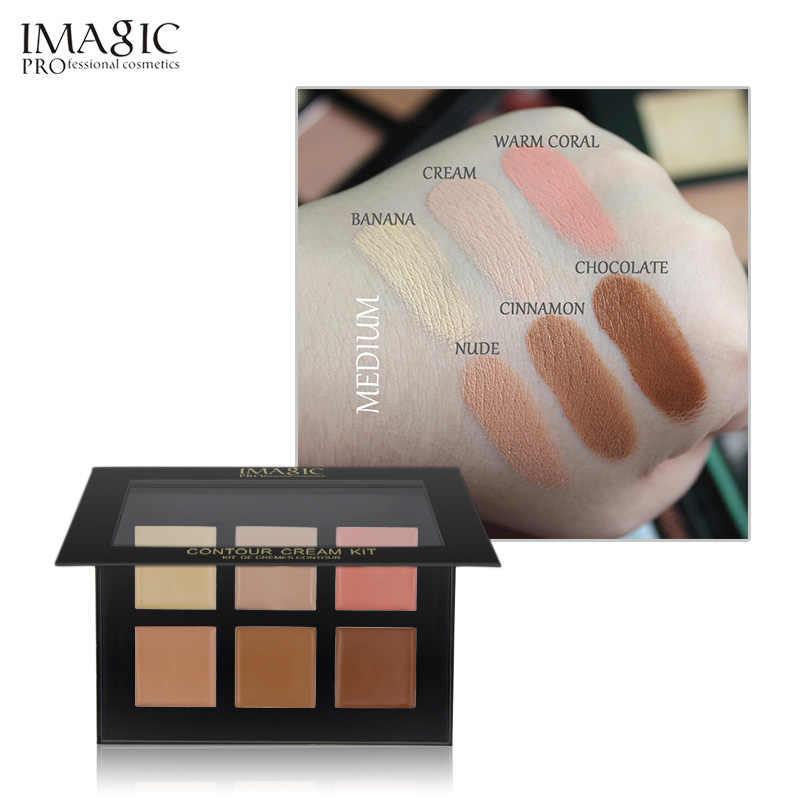 Imagic 6 Warna Concealer Krim Kontur Palet Kit Make Up Pro Palatte Concealer Wajah Bersih 30G Kulit 1 pcs Gratis Pengiriman