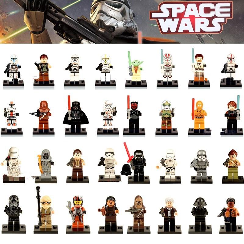 Single Sale Jar Jar Binks K3PO Star Wars Action DIY Lando Han Grand Figures Building Blocks Compatible With LegoINGly Starwars
