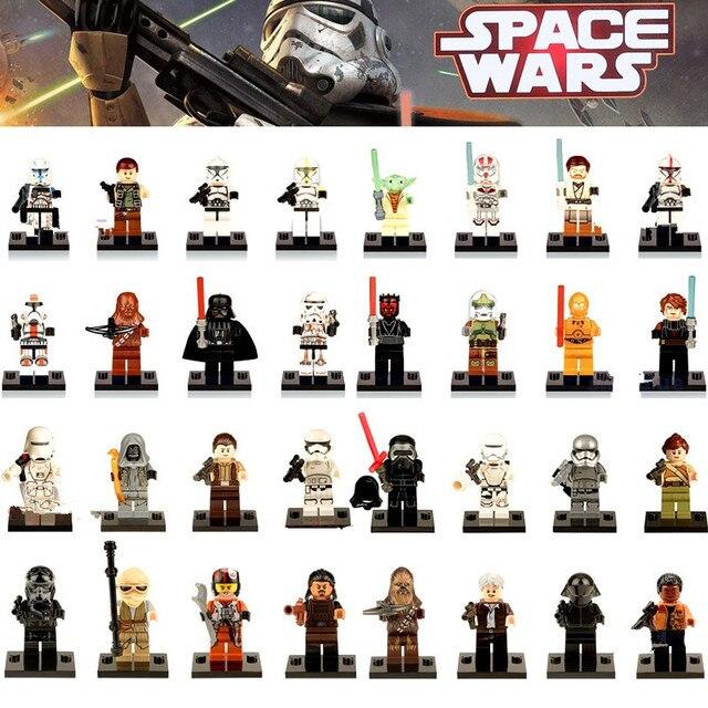 Única Venda Jar Jar Binks K3PO Lando Han Grandes Figuras de Ação Star Wars DIY Blocos de Construção Compatíveis Com LegoINGly Starwars