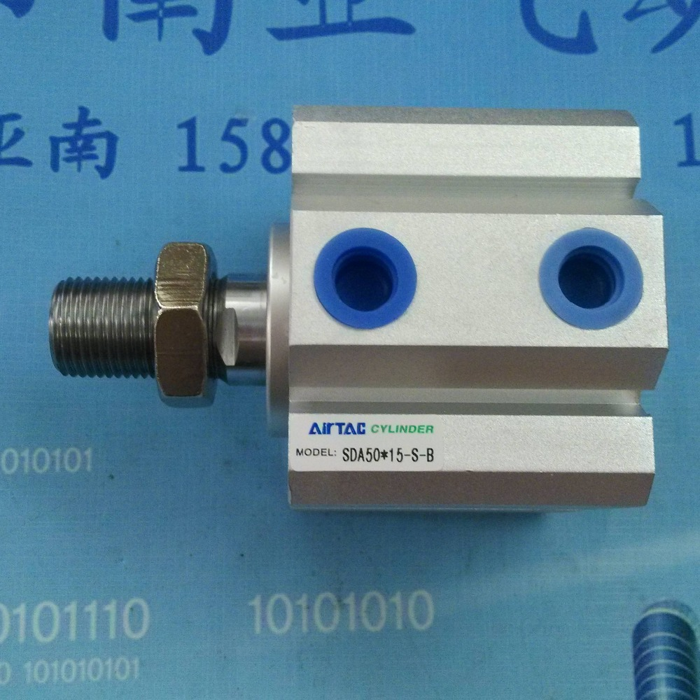 SDA50*15-S-B AIRTAC air cylinder pneumatic component air tools SDA series su50 400 s airtac thin three axis cylinder with rod air cylinder pneumatic component air tools