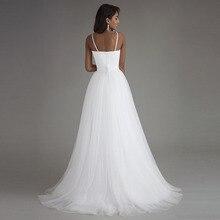 Spaghetti Strap Beach Wedding Dresses
