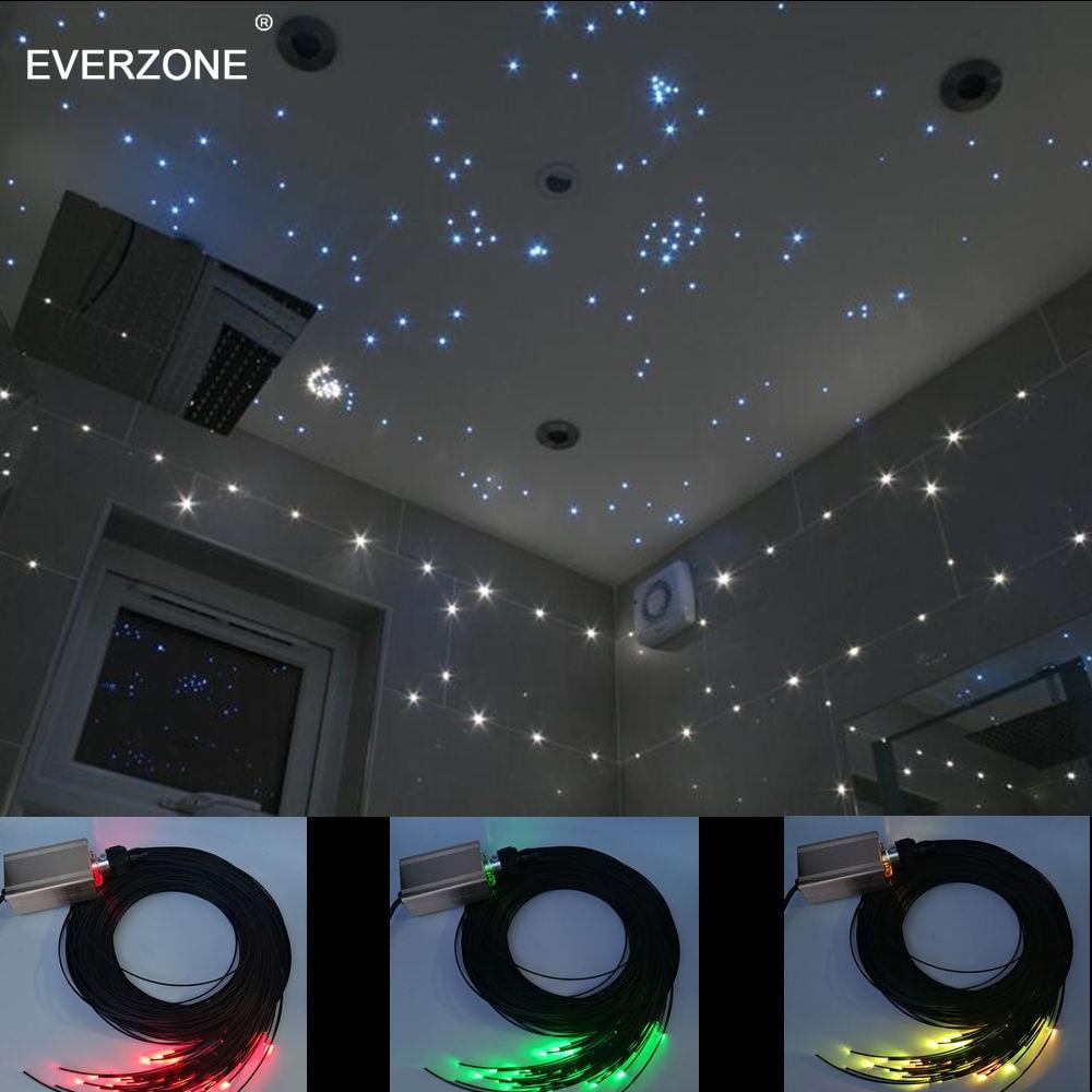 Led Fiber Optic Mood Lighting Decoration for Sauna Room Ceiling or Bathroom Tiles by Waterproof Plastic