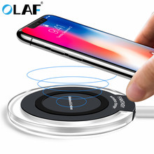 Olaf 10W Qi Wireless Charger for iPhone 8/X Fast Wireless Charging for Samsung S8/S8+/S7 Edge Nexus 5 Lumia 820 USB Charger Pad стоимость