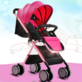 2017 New Arrive Baby Stroller High Landscape Super Light Weight Baby Car Portable Folding Strollers Soft Prams for Newborns C01
