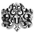 NFS Brand Men Rings Skull Head Ring Men's Stainless Steel Ring Luxury Openwork Antlers Imperial Crown Rings Game of Thrones