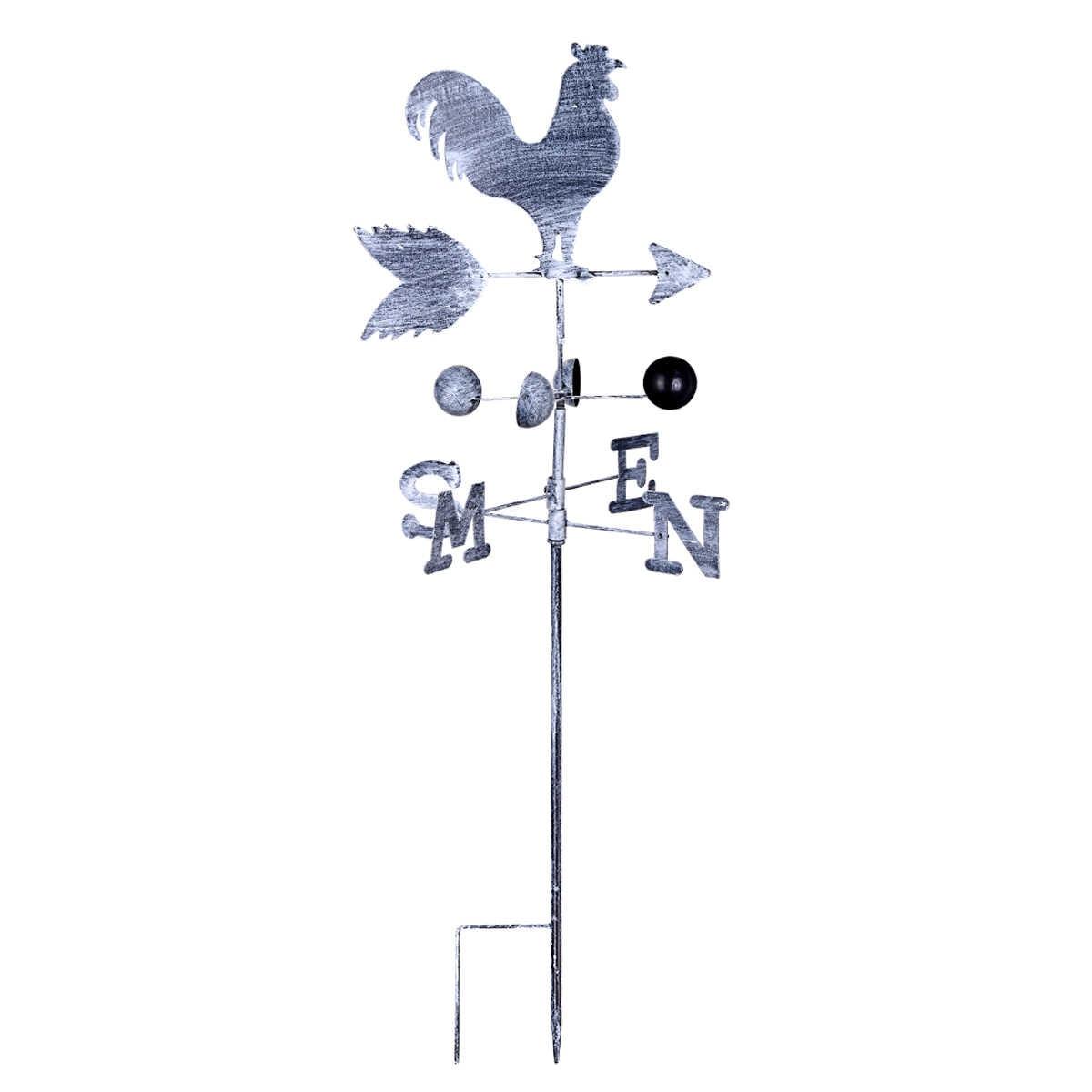 Металл Утюг петух погода лопасти 120 см ветер скорость Spinner направление индикатор украшение садового орнамента Патио двор поставки
