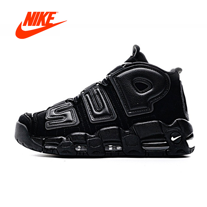 Original Nouvelle Arrivée Authentique Nike Air Plus Uptempo x Suprême Hommes de Chaussures de Basket-Ball En Plein Air Sneakers Bonne Qualité 902290- 001