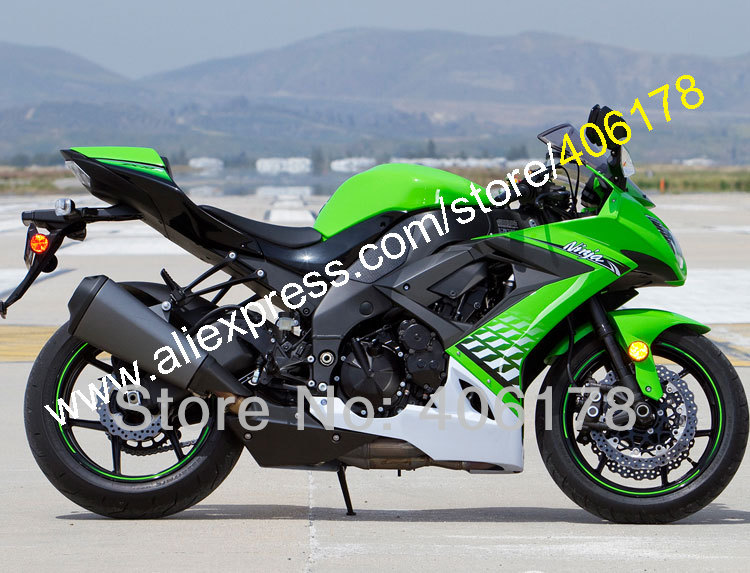 Hot Sales,For Kawasaki Ninja ZX-10R ZX 10R 2008 2009 2010 ZX10R 08 09 10 ZX-10R ABS Motorcycle Fairing Set (Injection molding)