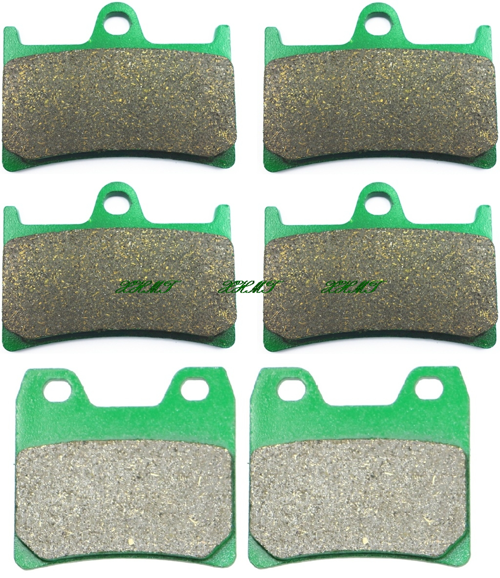 Brake Pads Set for YAMAHA FZS1000 FZS 1000 FAZER 2001 2002 2003 2004 2005 / XJR1300 XJR 1300 2001 & up mfs motor motorcycle part front rear brake discs rotor for yamaha yzf r6 2003 2004 2005 yzfr6 03 04 05 gold