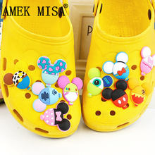 Balloon Shape Shoe Charm Decoration 10 Pcs PVC Pinkycolor Garden Shoe Buckle Accessories Fit Bands/Bracelets/Croc/Wristbands 10 16pcs mickey minnie pvc shoe charms shoe accessories shoe buckle for wristbands croc kids favor gift
