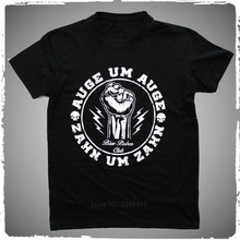 Printed T Shirt Sleeve Men'S New Style Crew Neck Short-Sleeve Bose Buben Club Auge Um Auge Zahn Tee Shirt