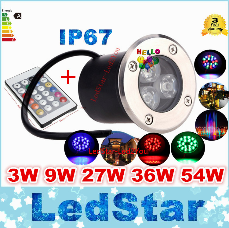 buy 9W Led RGB Underground Light Deck Lamp Outdoor IP67 Buried Recessed Floor Lights Warm/Cold White Red Blue Green pic,image LED lamps deals