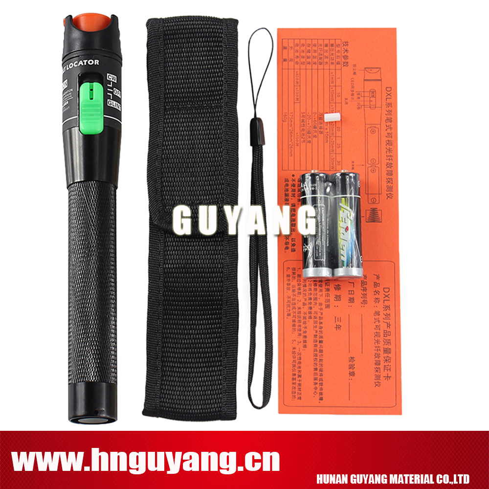 GUYANG GY30w High Quality 30mW VFL Optical Fiber Cable Tester, Fiber Optic Visual Fault Finder 20-30Km Range 650+10nm Red pen