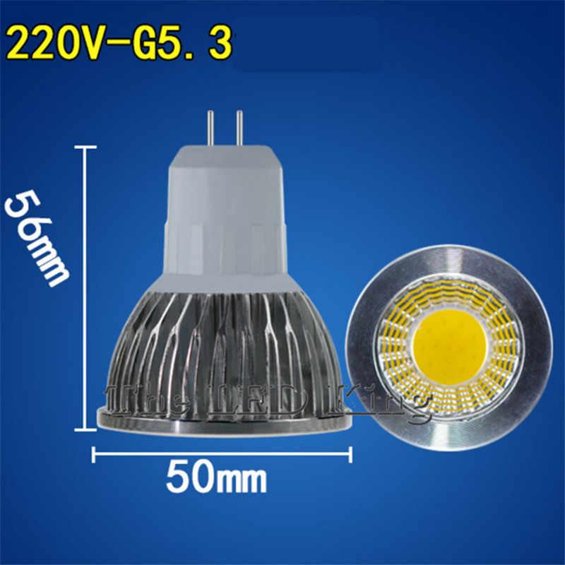 Super lumineux 9 W 12 W 15 W GU10 COB GU5.3 lampe à LED 110 V 220 V Dimmable LED spot chaud blanc rouge bleu vert MR16 12 V lampe à LED