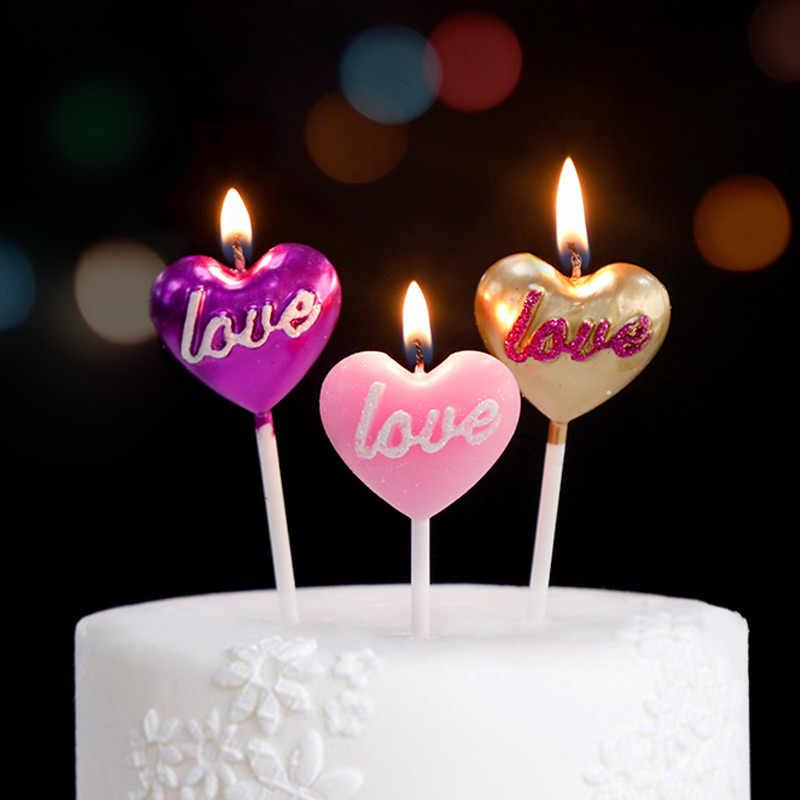 Heart Shaped Pleading Candles Smokeless Decorative Birthday Candle Cake Decor Wedding Decoration Party Supplies Birthday Candle Birthday Candle Cakecandle Cake Aliexpress